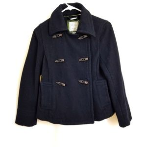 Old Navy Size S Blue Jacket Coat Wool Blend